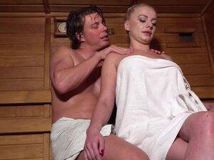 Sauna foreplay leads to crazy fucking with nice tits Elizabeth - Elizabeth Romanova